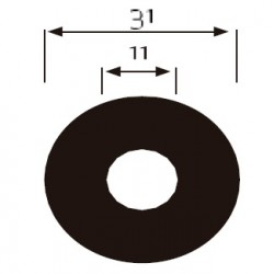 100 DISCOS ADHESIVOS DIAM. 31 Gr. 240