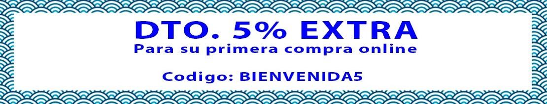 5% de descuento en tu primera compra online